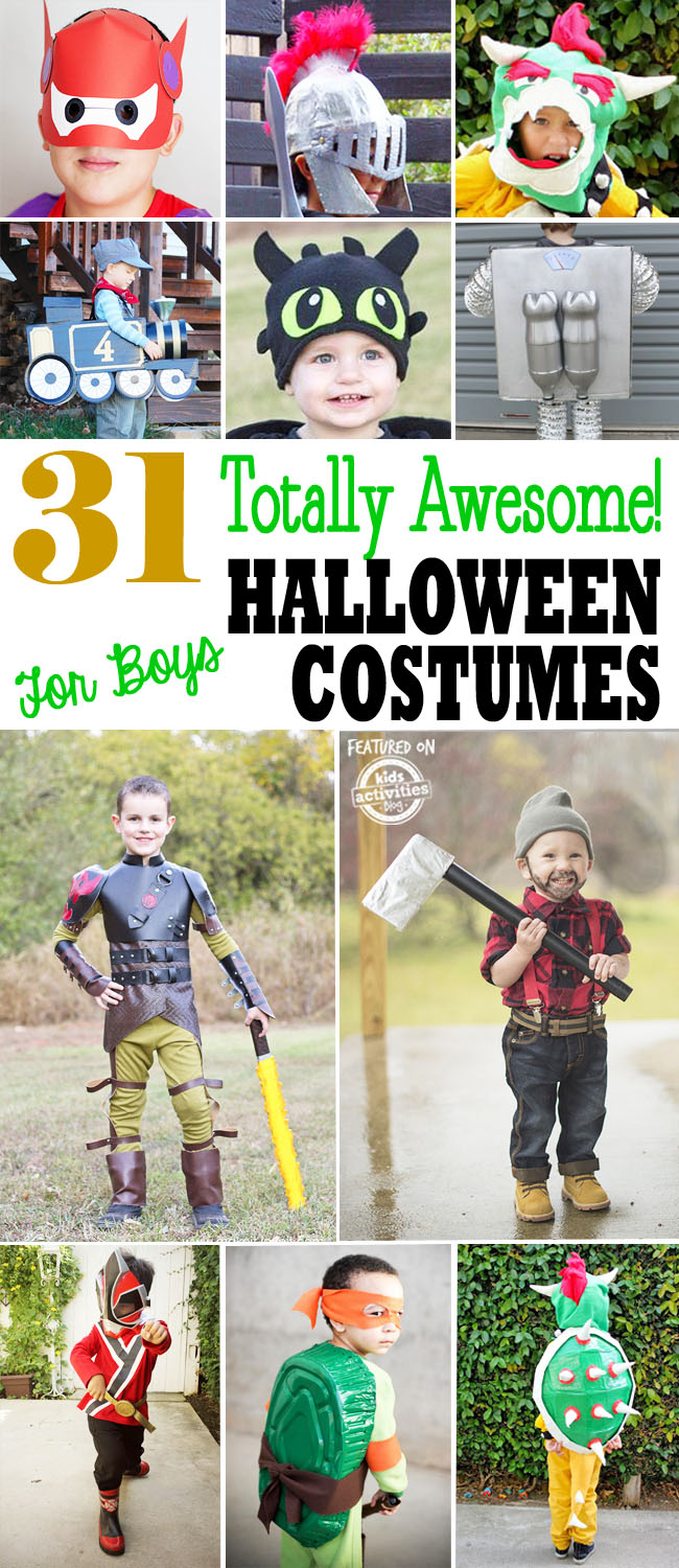 halloween costumes for boys  sc 1 st  InTheLoopKids - BubbleLife & 31 Totally Awesome DIY Halloween Costumes for Boys - Dallas Single ...