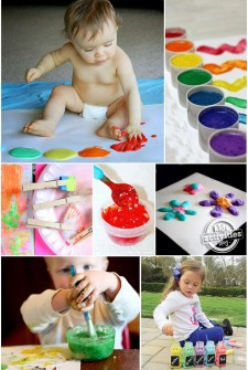 Art For Kids – 15 Homemade Paint Recipes {& funky brushes}