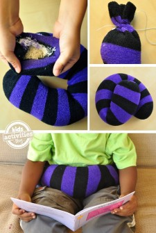how to make a weighted lap band to help fidgety kids calm down