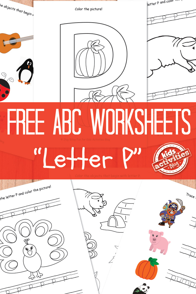 Letter P Worksheets Free Kids Printable – Letter P Worksheets for Kindergarten