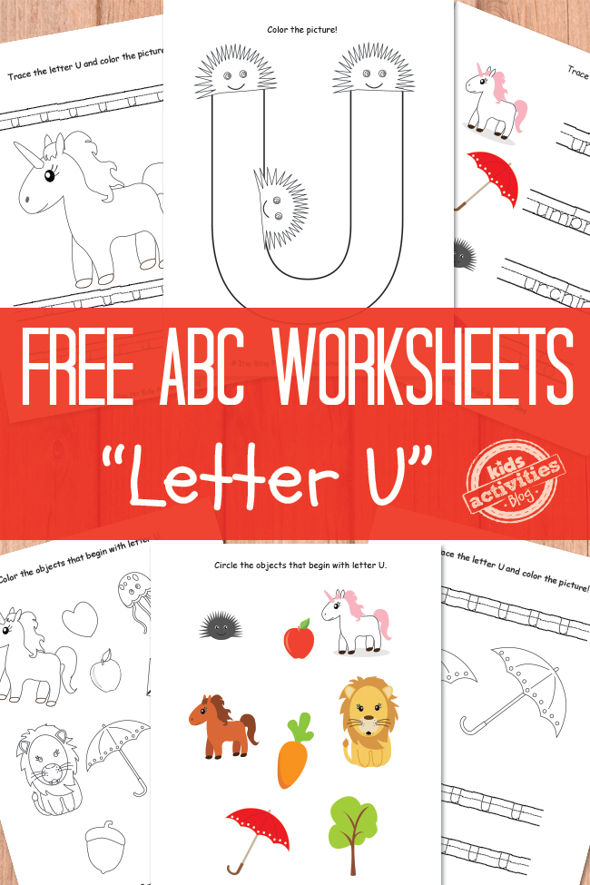 U Is For Umbrella Coloring Page Letter U Worksheets Fr...