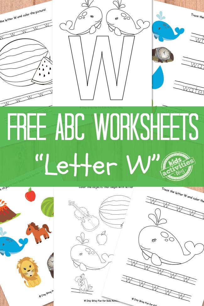 Letter W Worksheets Free Kids Printable – Letter W Worksheet