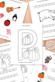 Letter P Worksheets Free Kids Printable