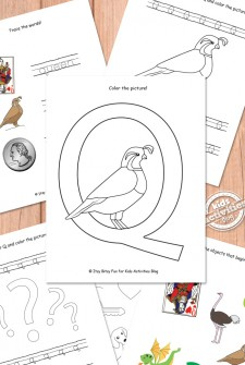 Letter Q Worksheets Free Kids Printable