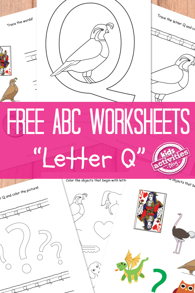 picture relating to Letter Q Printable known as Letter Q Worksheets No cost Small children Printable