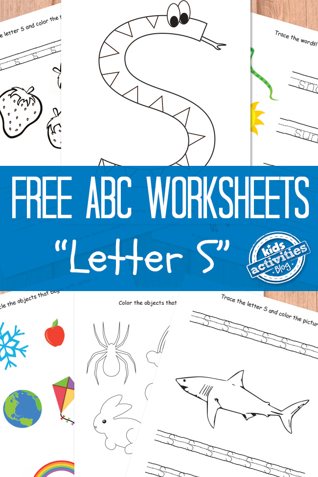 letter s worksheets free kids printable. Black Bedroom Furniture Sets. Home Design Ideas