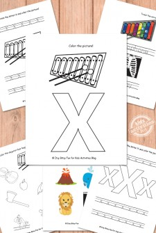Letter X Worksheets Free Kids Printable