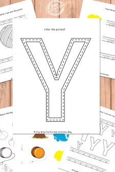Letter Y Worksheets Free Kids Printable