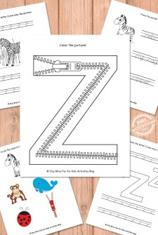 Letter Z Worksheets Free Kids Printable