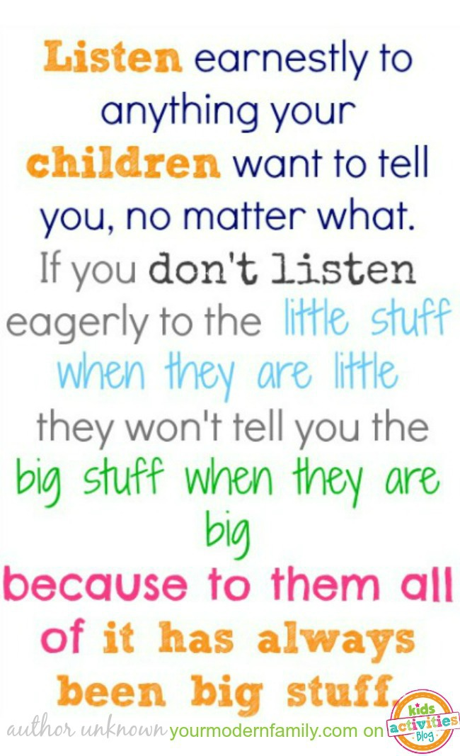 Listen to Your Kids    It Means More Than You Know