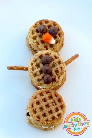 Make a Waffle Snowman