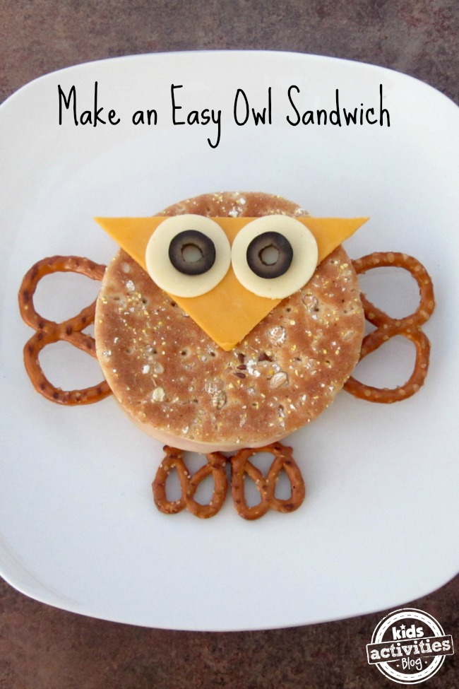 Make An Easy Owl Sandwich