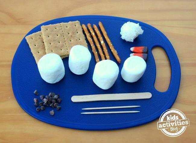 Make a Marshmallow Snowman Ingredients