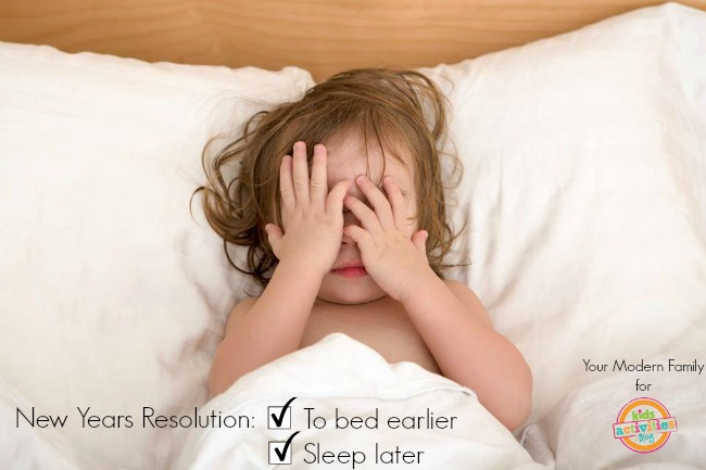 new years resolutions - to bed