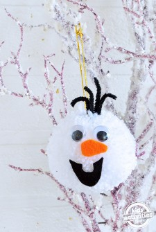 Olaf Frozen Pom Pom – DIY Xmas Tree Decoration