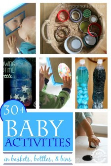 30+ One Year Old Activities in Baskets, Bottles, and Bins