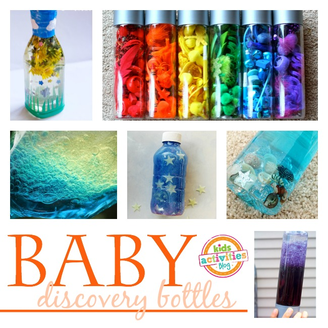 Simple sensory bottles for baby