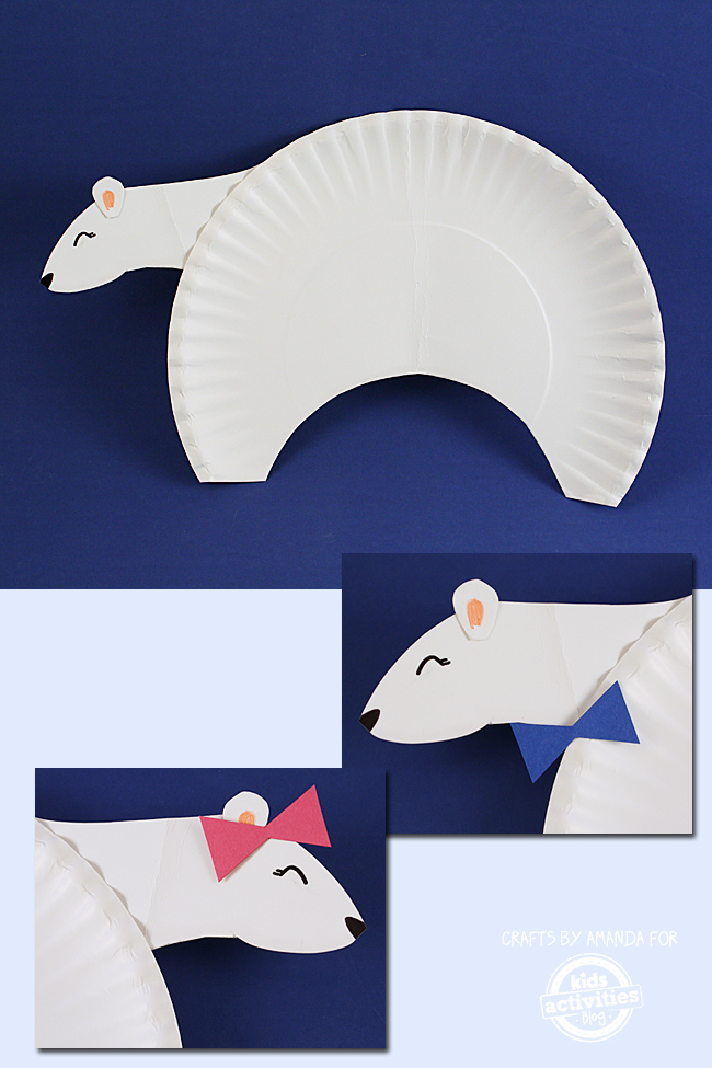 Polar Bear Craft From A Paper Plate