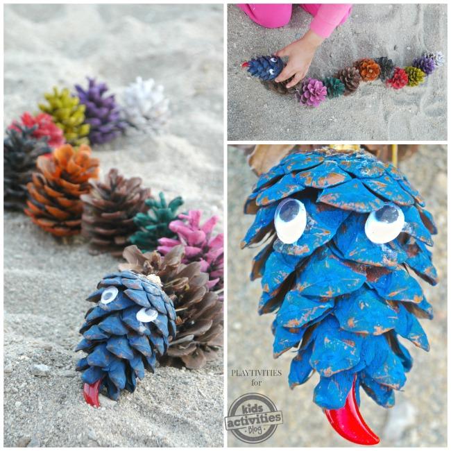 pine cone craft snake