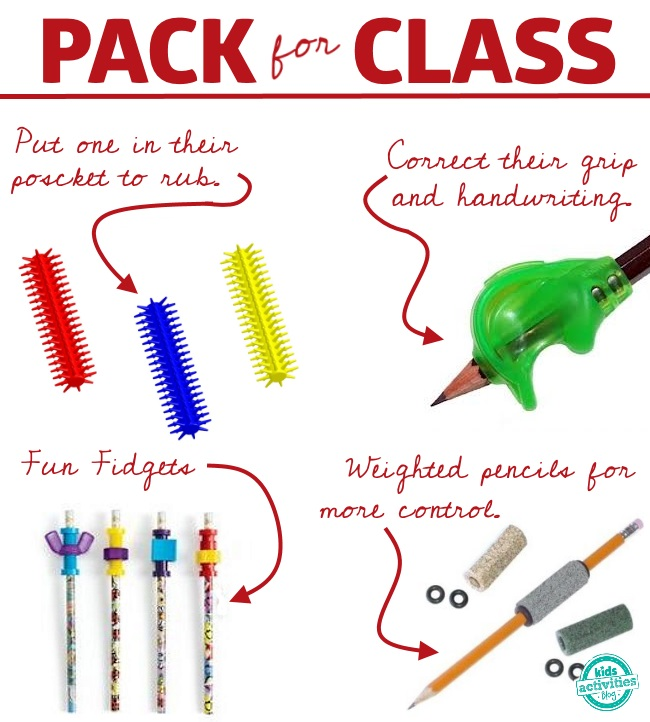 sensory producst that your kids can use in the classroom to help them focus