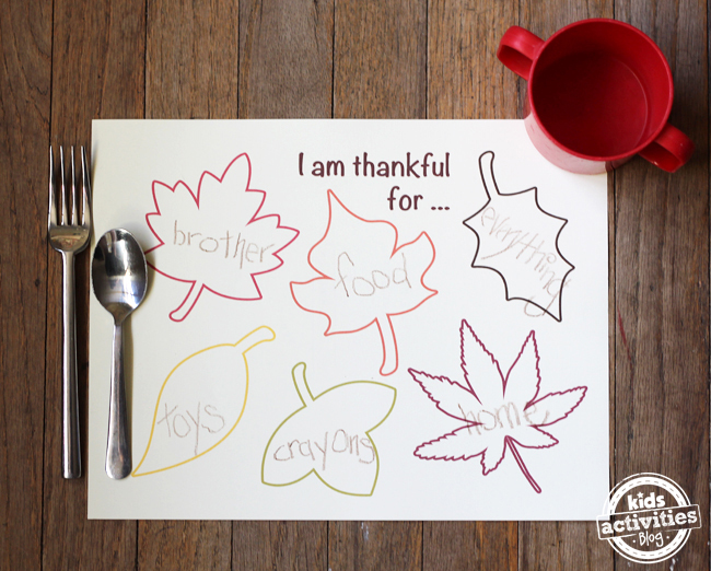 free printable placemats