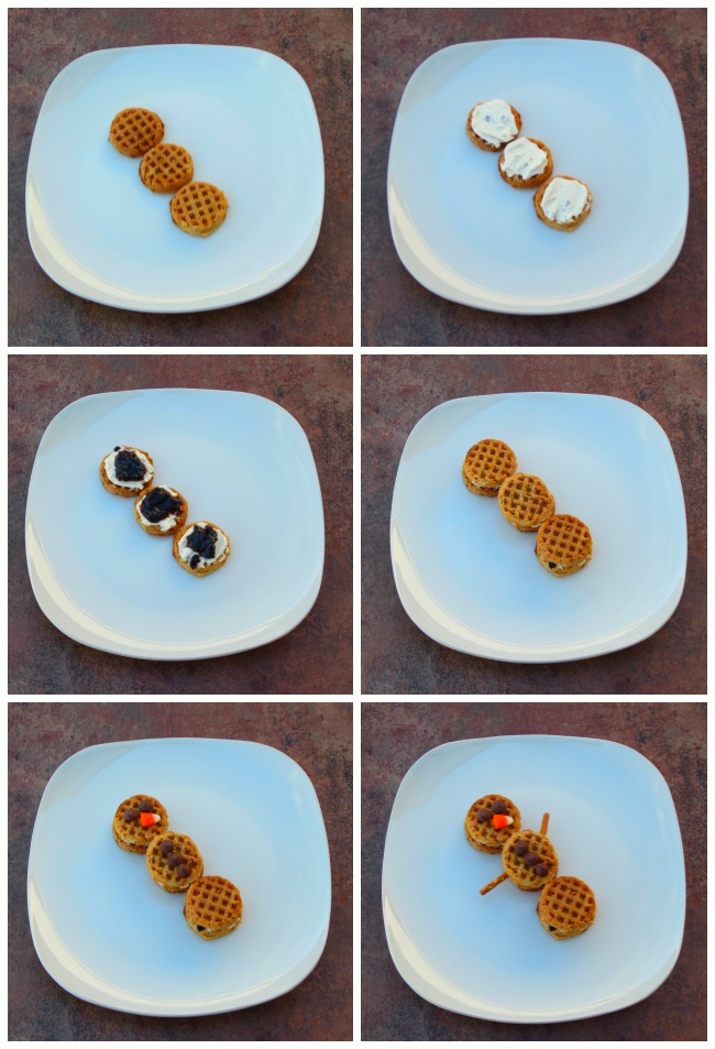Make a Waffle Snowman, Step by Step