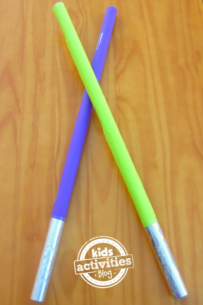 Make A Wrapping Paper Roll Light Saber Kids Activities Blog