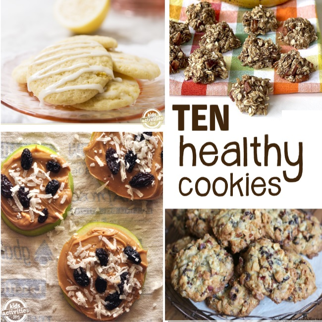 10 healthy cookie recipes for families