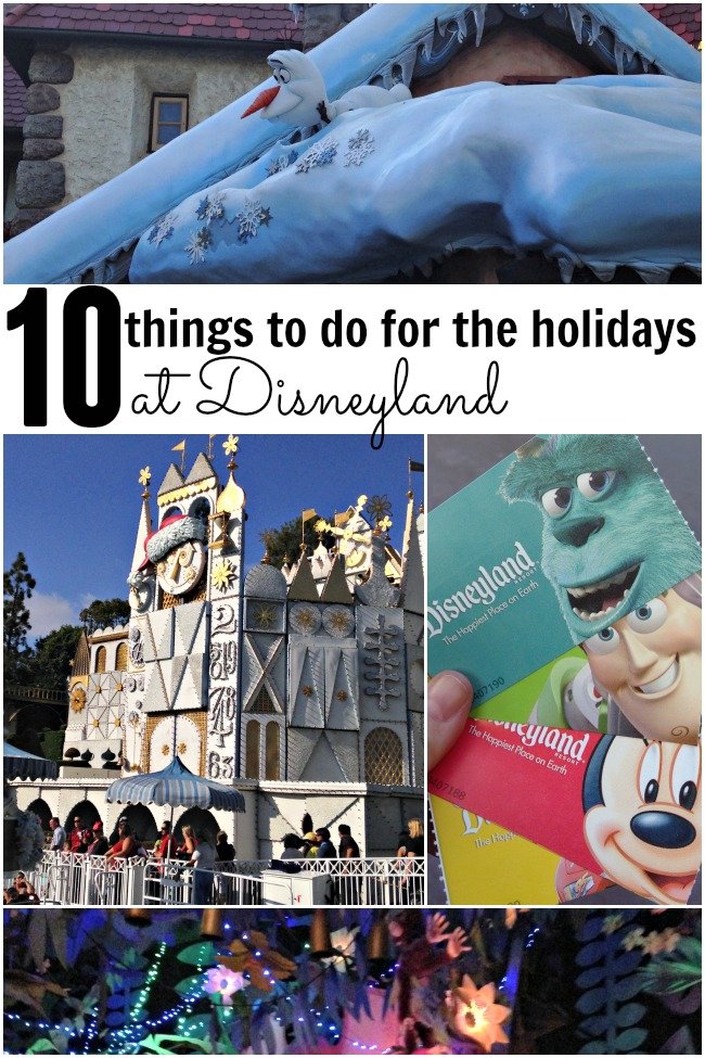 10 things to do for holidays at disneyland