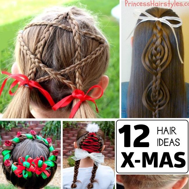 12 hair ideas for christmas