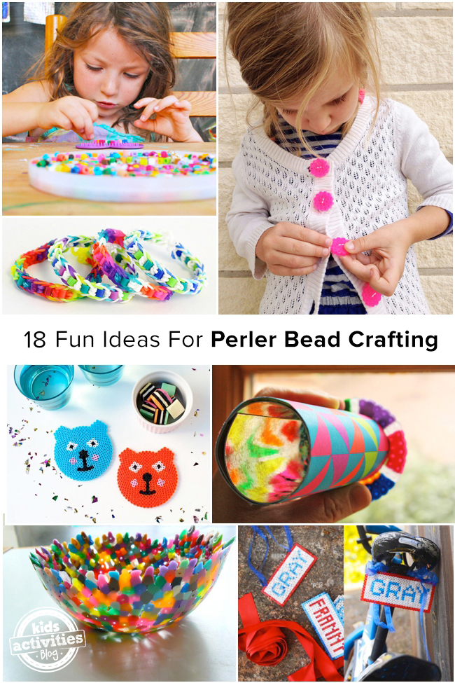 18 fun ideas for perler bead crafting for Bead craft ideas for kids