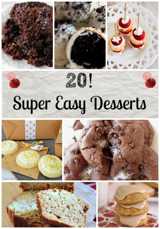 20 Super easy desserts