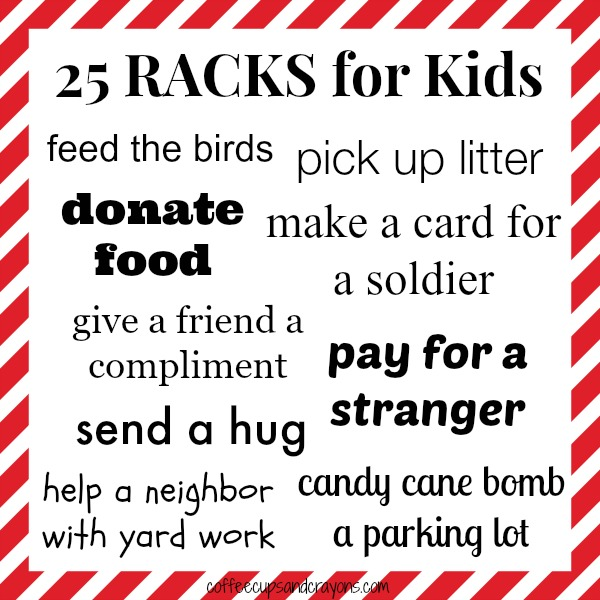 25 Random Acts of Christmas Kindness for Kids!