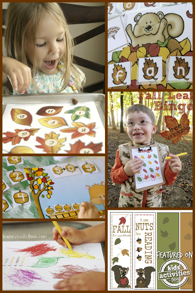 34 fall printables activities