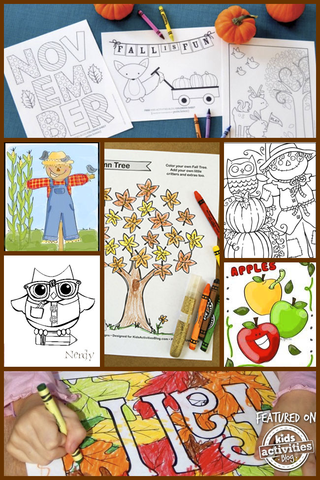 34 fall printables coloring pages
