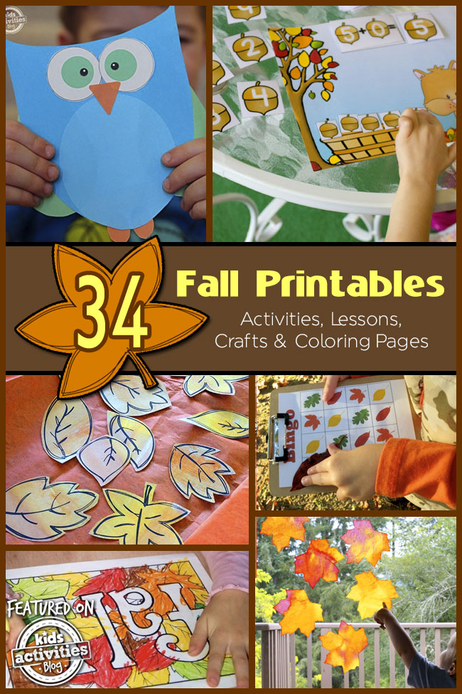 This is a photo of Sweet Printable Fall Crafts