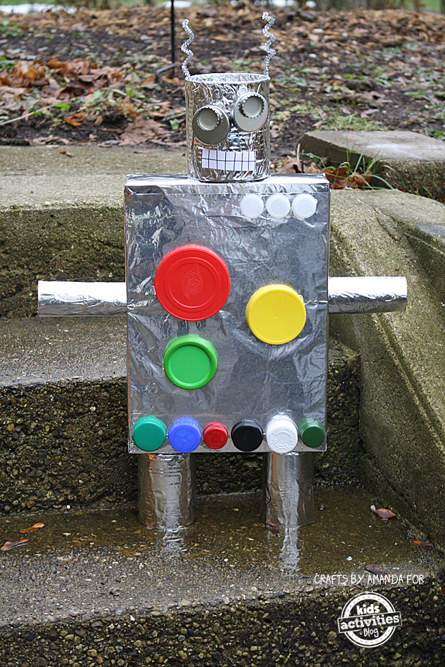 Recycled crafts cereal box robot for What to make out of cereal boxes