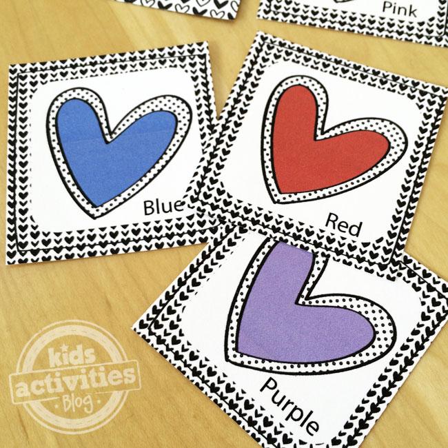 printable valentines memory game