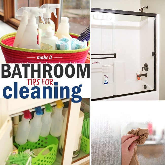 EASY tips for cleaning the bathroom
