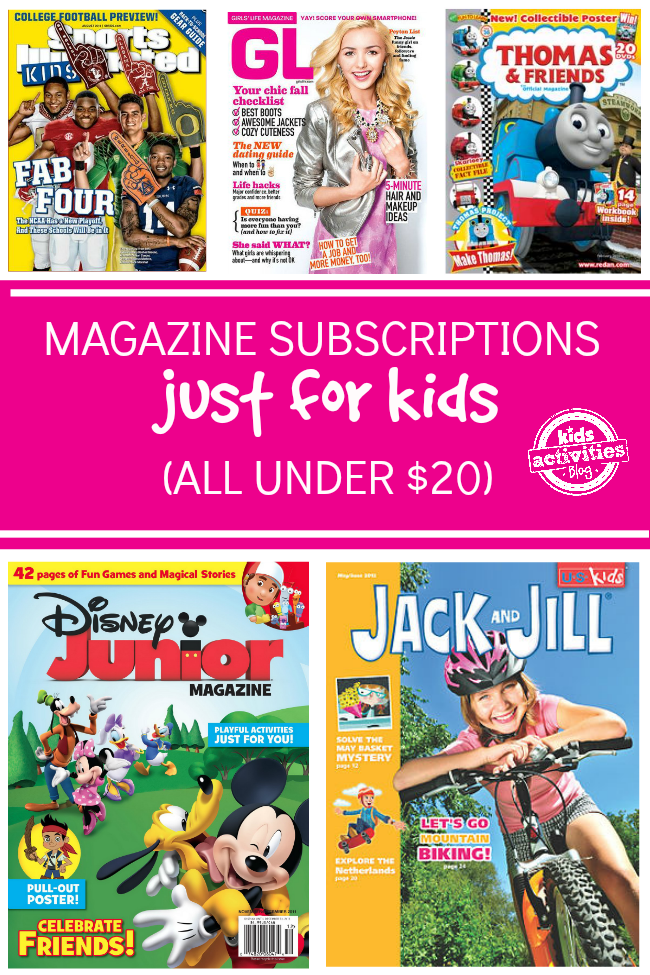 Magazine Subscriptions For Kids Under 20