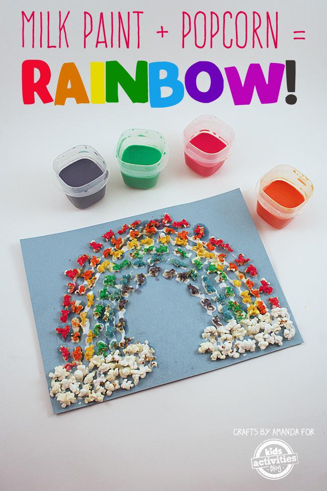 Milk Paint Popcorn Rainbow