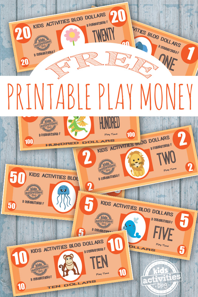 photo regarding Free Printable Money known as Perform Economical Totally free Children Printable