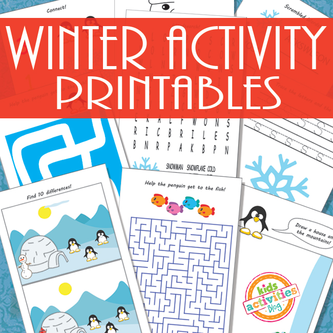 printable winter activity sheets for kids - Kids Activity Book Printable