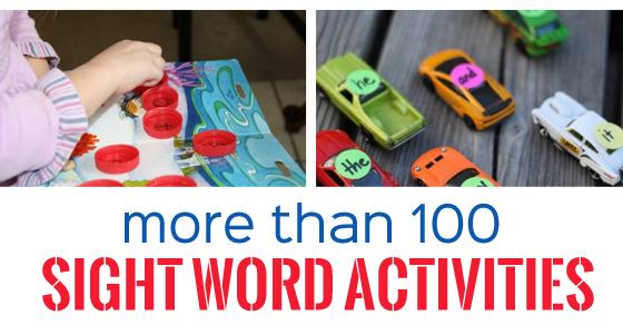 100+ Sight Word Activities
