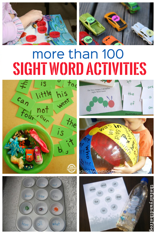 100  sight word activities