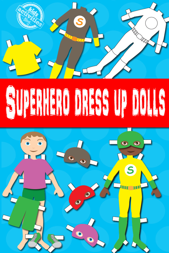 photograph relating to Printable Dress Up Paper Dolls called Boy Superhero Gown Up Dolls Cost-free Young children Printable