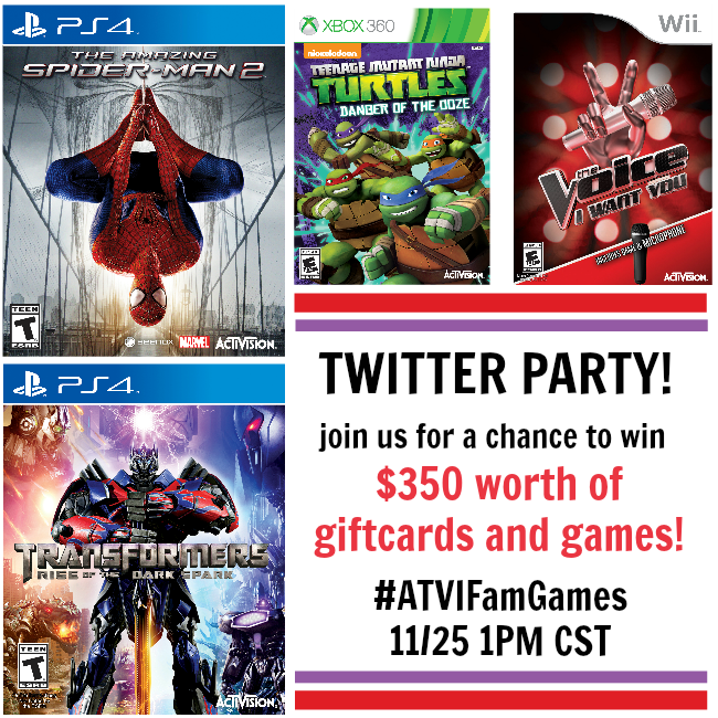 Activision Family Games Twitter Party