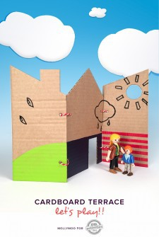 Cardboard Playhouse: How to Make a Fold-Up Terrace