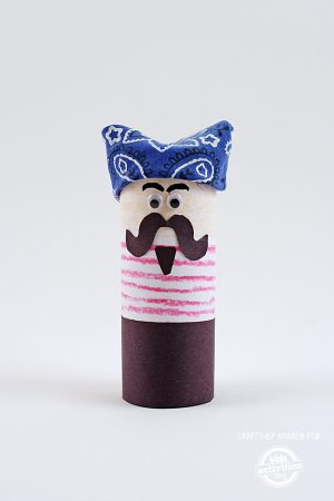 Cardboard Tube Pirate Craft
