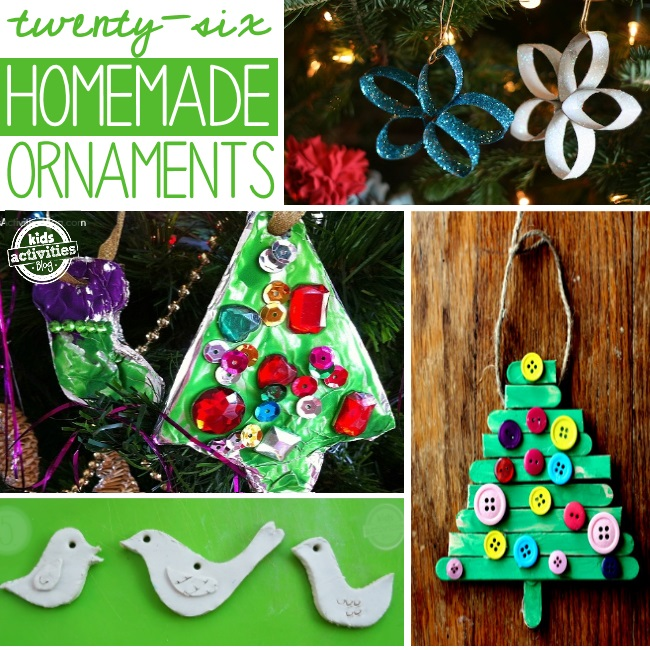 christmas ornaments that kids can make